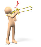 Trombonspelare Arkivfoto
