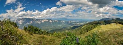 Panoramic view from Tromeja over southeastern Austria. stock photos