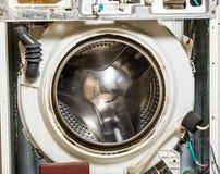 Trommel der alten Wäschereiwaschmaschine Stockbild
