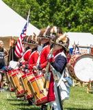 Trommel en de Korpsen die van Fife bij Fort DE Chartres, IL performaing royalty-vrije stock foto