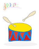 Trommel en trommelstokken vector illustratie