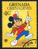 Trommel Major Mickey Mouse Royalty-vrije Stock Foto