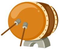 Trommel met trommelstokken stock illustratie