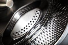 Trommel van wasmachine droog en schoon close-up stock foto