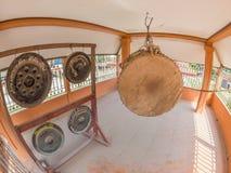 Trommel in Wat Phia Wat Xieng Khuang, Laos royalty-vrije stock afbeeldingen