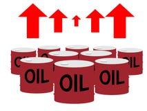 Trommeldosen Öl und hohe Pfeile lizenzfreie abbildung