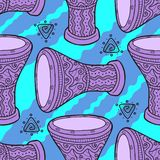 trommeln Arabische Trommeln perkussion stock abbildung