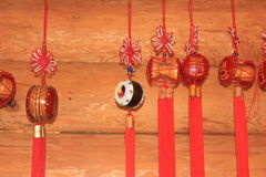 Trommeln, chinesischer Knoten Stockbild