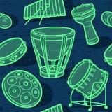 Trommeln eingestellt Musikalischer Hintergrund perkussion Verschiedene Varianten der Farbe sind möglich Stockbilder