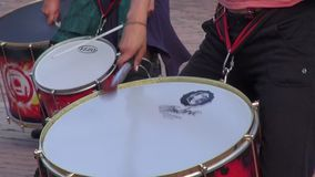 Trommeln, Stoß, Musikinstrumente stock video