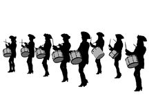 Trommelparadefrauen zwei Stockfotografie