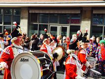 Trommels van Carnaval in Keulen Stock Foto