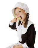 Trommelstock-liebevolles Pilger-Mädchen Lizenzfreies Stockfoto