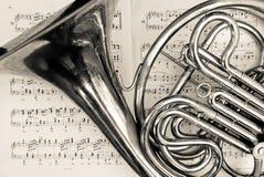 Trompa francesa Imagens de Stock Royalty Free