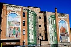 Trompe - l ' oeil墙壁壁画在Yonkers, NY 图库摄影