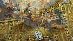 Trompe l&#x27 ; peinture murale d'oeil, Rome, Italie Photos stock