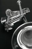 Trompet 2 b&w Royalty-vrije Stock Afbeeldingen