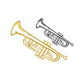 trompet royalty-vrije illustratie