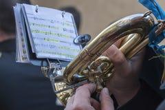 Trompet die in een gebeurtenis worden gespeeld royalty-vrije stock foto's