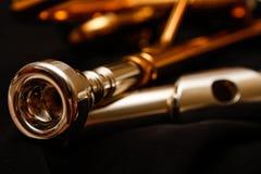 Trompet en Fluitmondstukken Stock Fotografie