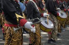 Trompet en trommel Stock Foto's