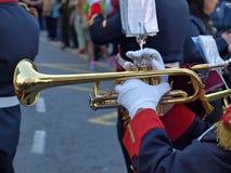 Trompet im Band Lizenzfreies Stockfoto