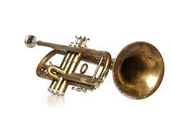 trompet op witte achtergrond Royalty-vrije Stock Foto's