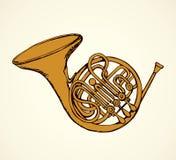 trompet Vector tekening Royalty-vrije Stock Afbeeldingen