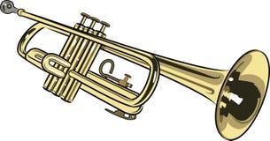 Trompeta stock de ilustración