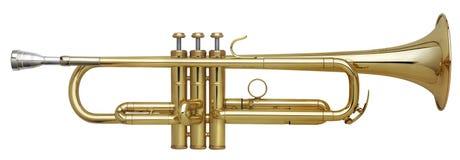 Trompeta de cobre amarillo Imagen de archivo