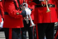 Trompeta de la banda Imágenes de archivo libres de regalías