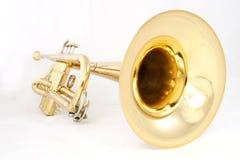 Trompeta de oro Imágenes de archivo libres de regalías