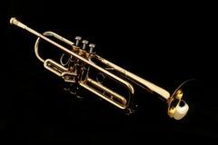 Trompeta de oro foto de archivo libre de regalías