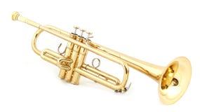 Trompeta de oro Fotos de archivo libres de regalías