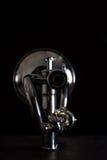 Trompeta de plata aislada Imagen de archivo libre de regalías