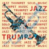 Trompeta del jazz ilustración del vector