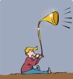 Trompeta del niño Foto de archivo libre de regalías