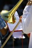 Trompeta en la orquesta Fotografía de archivo