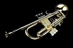 Trompeta en negro Fotografía de archivo