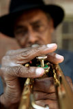 Trompeta perezosa Imagen de archivo libre de regalías