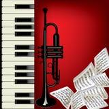 Trompeta y piano ilustración del vector