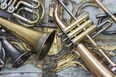 Trompetas Imágenes de archivo libres de regalías