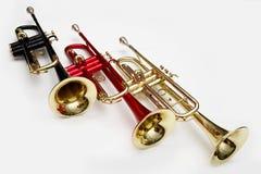 Trompetas del color Fotos de archivo