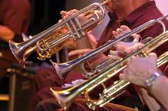 Trompetas en concierto Imágenes de archivo libres de regalías