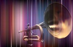 Trompete auf buntem Hintergrund Lizenzfreie Stockfotografie