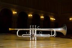 Trompete auf Stadium Stockfotografie