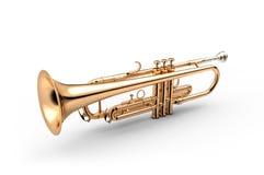 Trompete lokalisiert auf weißer Illustration 3D stock abbildung