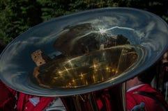 Trompete mit Reflexion stockbild