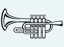 Trompete, Musikinstrument Stockfoto