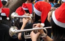Trompete-Spieler Stockfoto